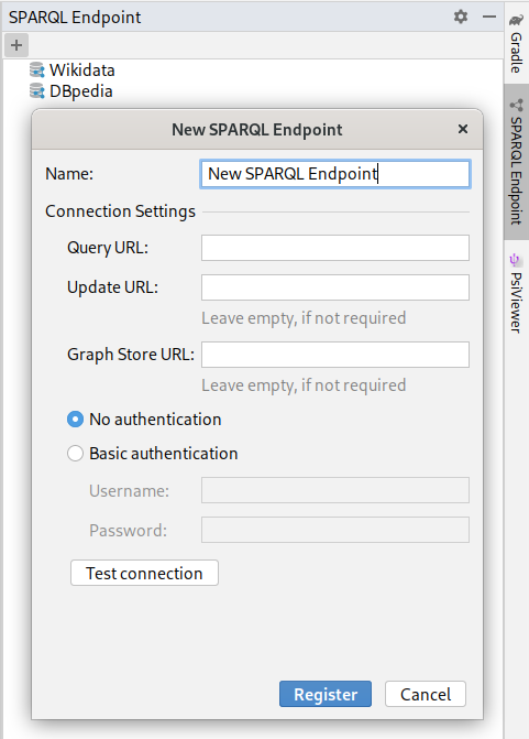 Register a SPARQL endpoint